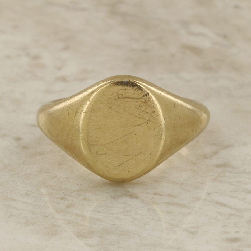 Vintage Signet Ring The Vintage Jeweller