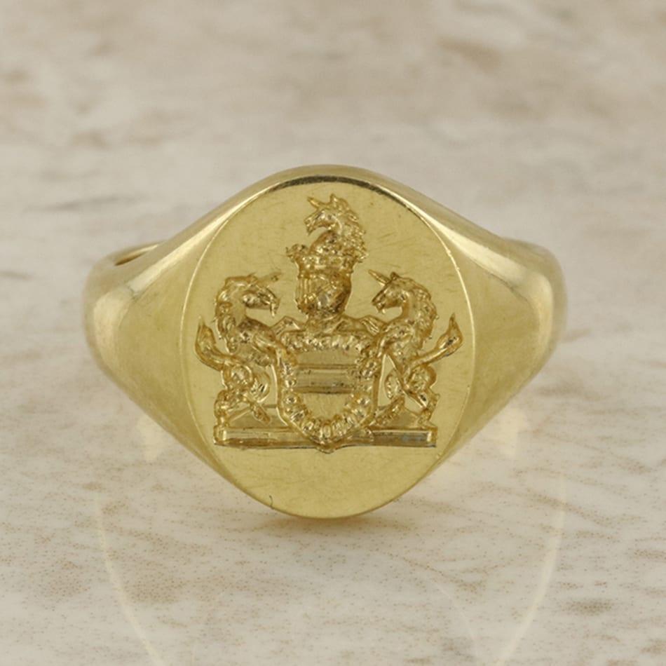 Mens Gold Signet Rings For Sale
