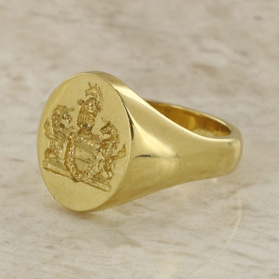 the to design simple beautiful honored manufacturing process custom signet time creative arms of family rings a combining wearer coat perfectly we represent with crest