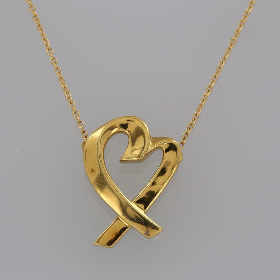 Tiffany White Gold Diamond Heart Necklace