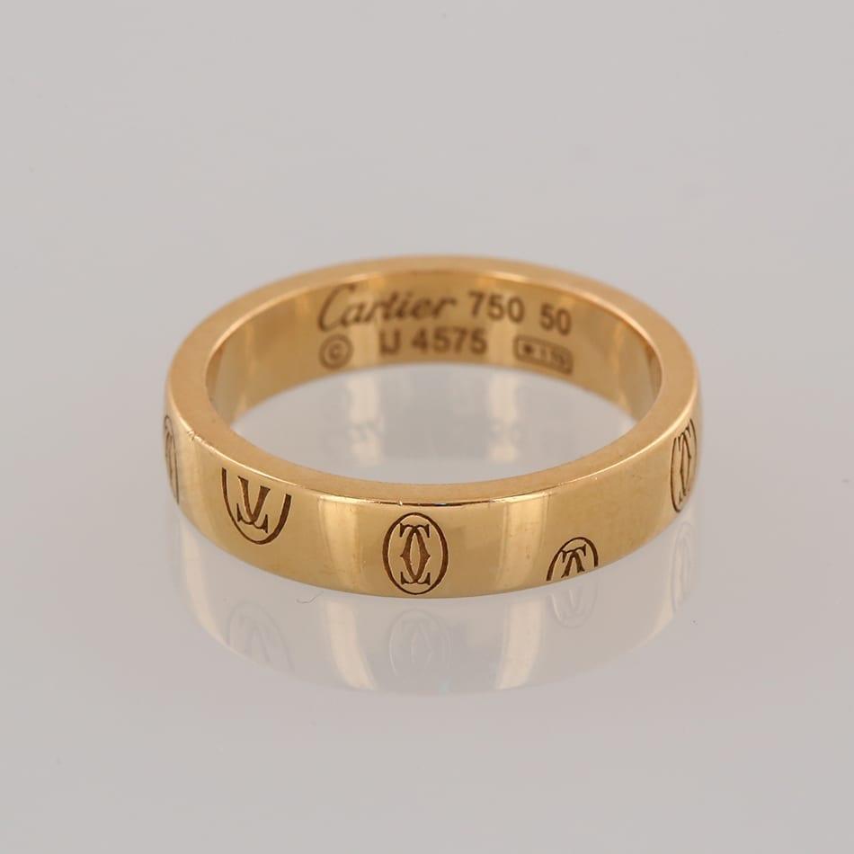 Cartier logo de cartier wedding band ring the vintage jeweller cartier logo de cartier wedding band ring junglespirit Image collections