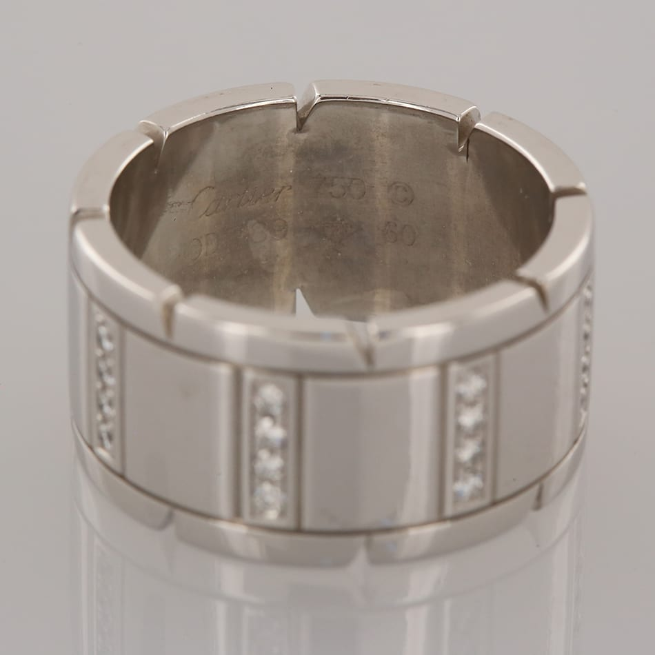 Cartier Tank Francaise Diamond Ring The Vintage Jeweller