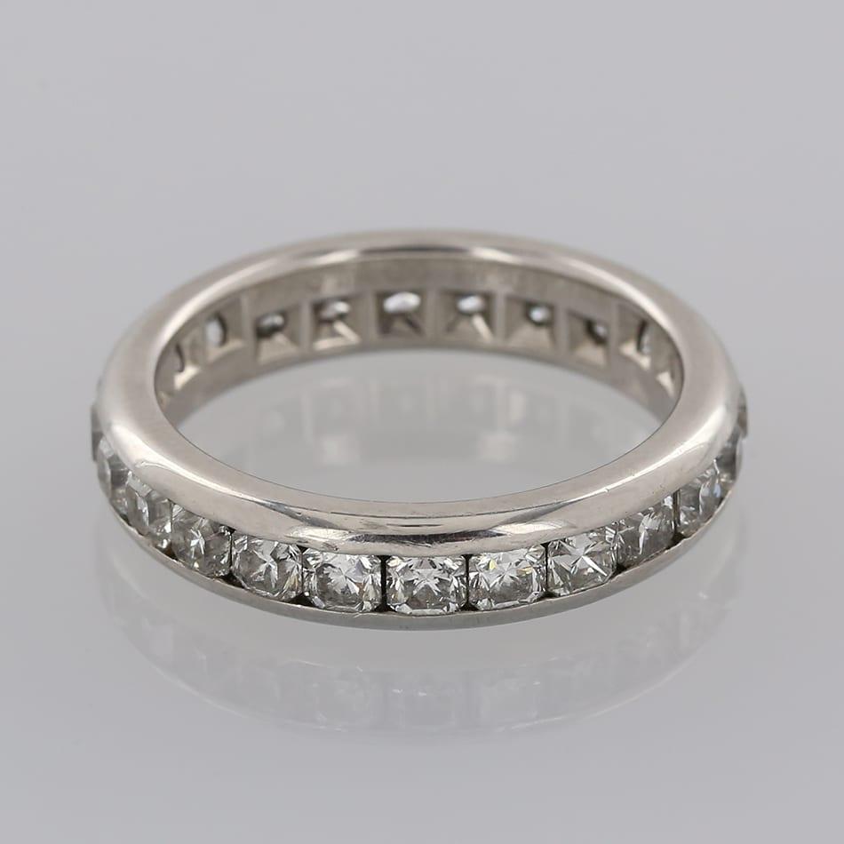Tiffany Co Platinum Lucida 2mm Wedding Band Ring Sz 8: Tiffany & Co. Lucida Diamond Band Ring