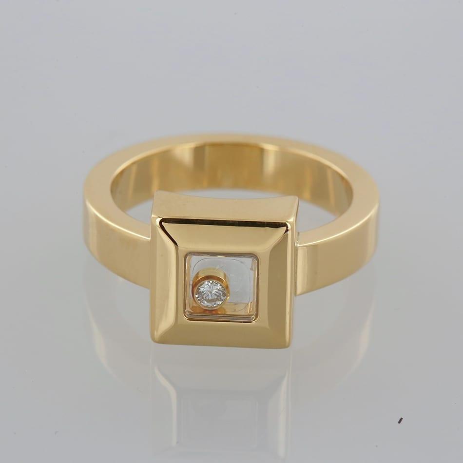 6fefaa42197eb Chopard Happy Diamonds Square Ring - The Vintage Jeweller
