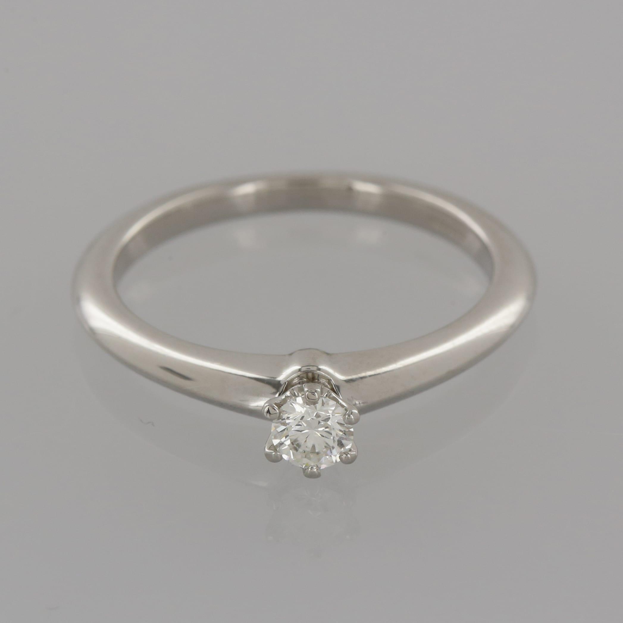 2d5760e0d Home / Rings / Stone / Diamond / Tiffany & Co. 0.19 Carat Diamond Solitaire  Engagement Ring