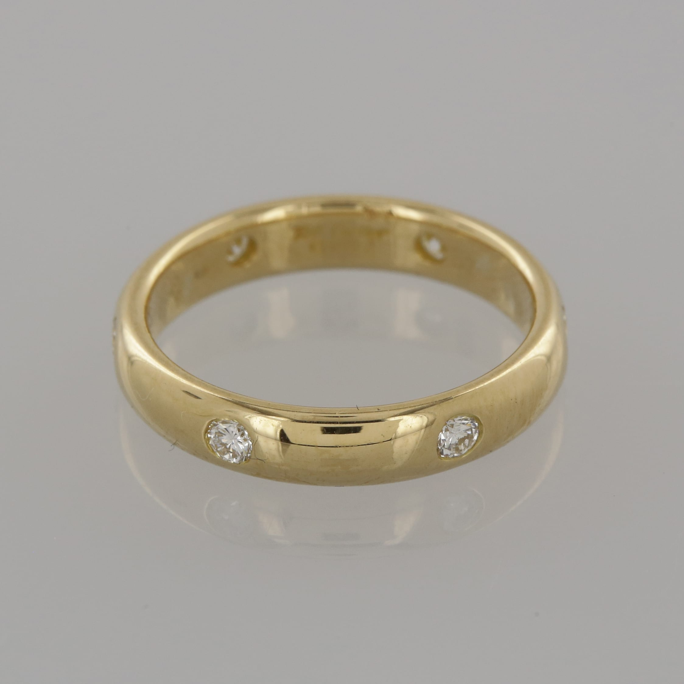 bands white ladies diamond gold gabriel band ring wide