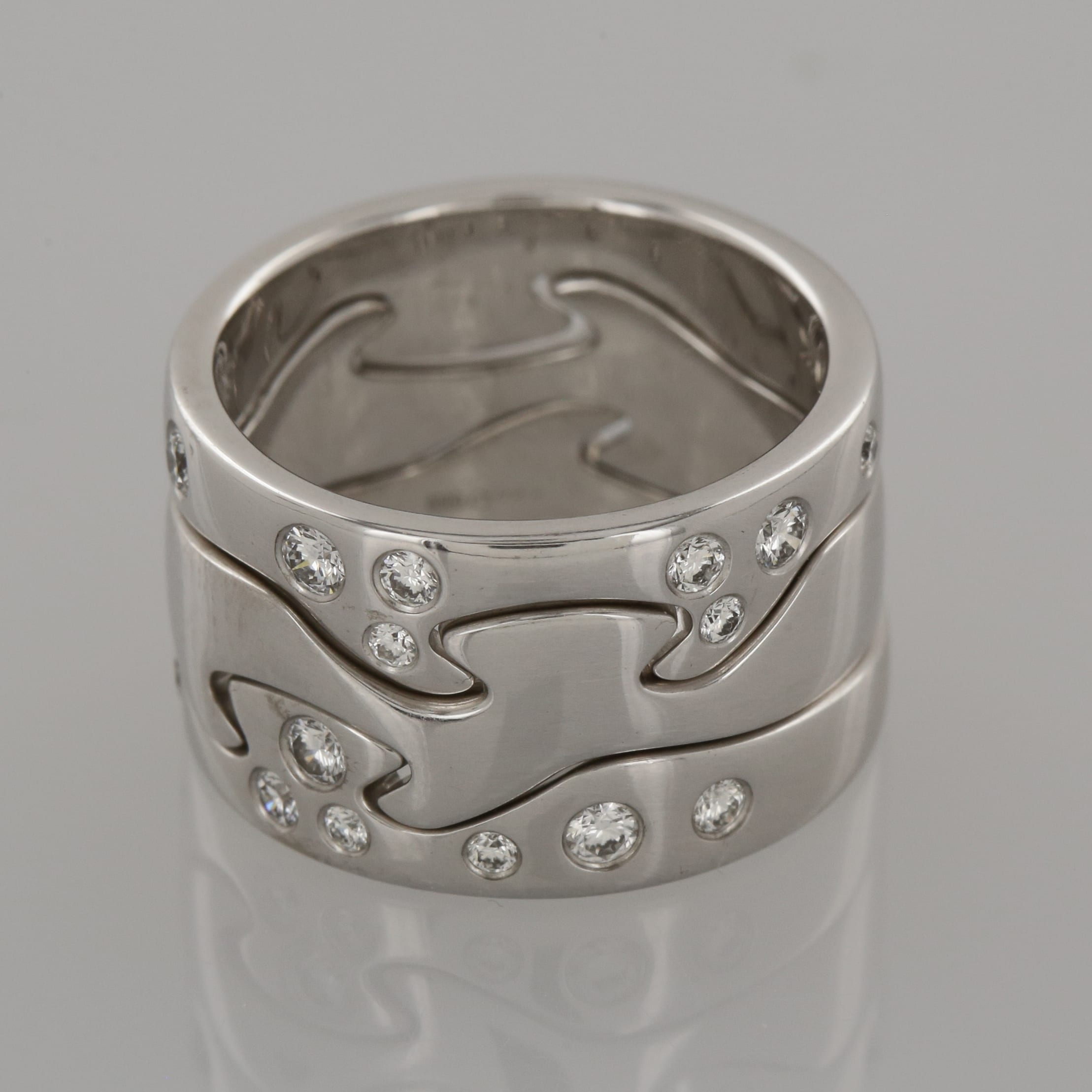Georg Jensen Fusion Three Piece Diamond Ring The Vintage Jeweller