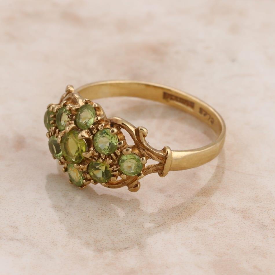 peridot ring the vintage jeweller