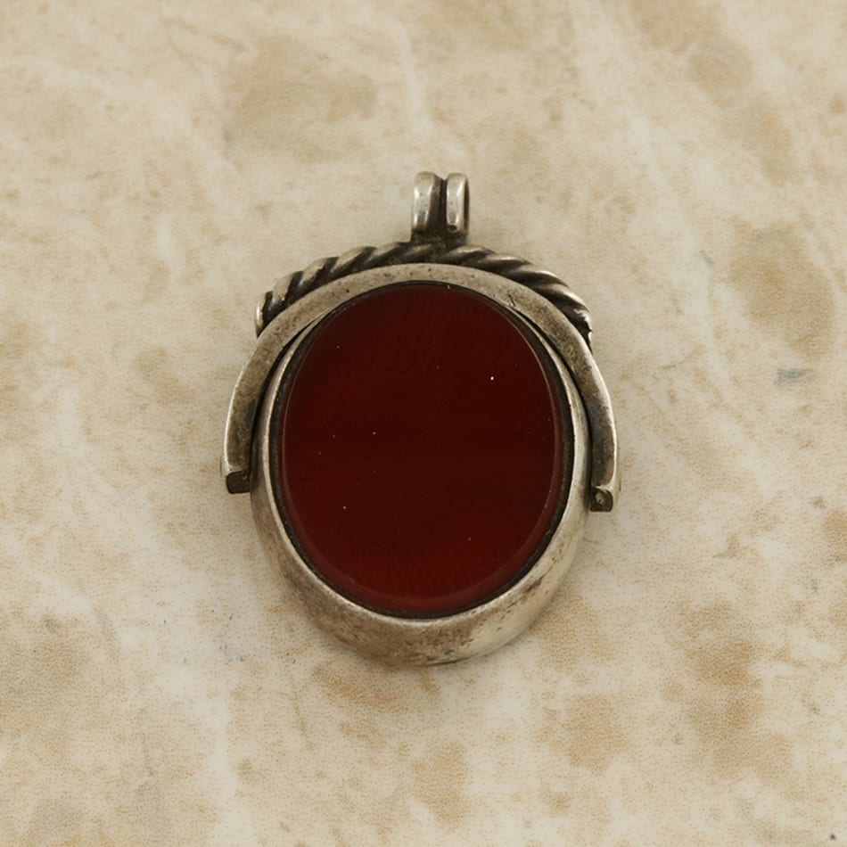 Agate and bloodstone fob pendant the vintage jeweller agate and bloodstone fob pendant mozeypictures Images