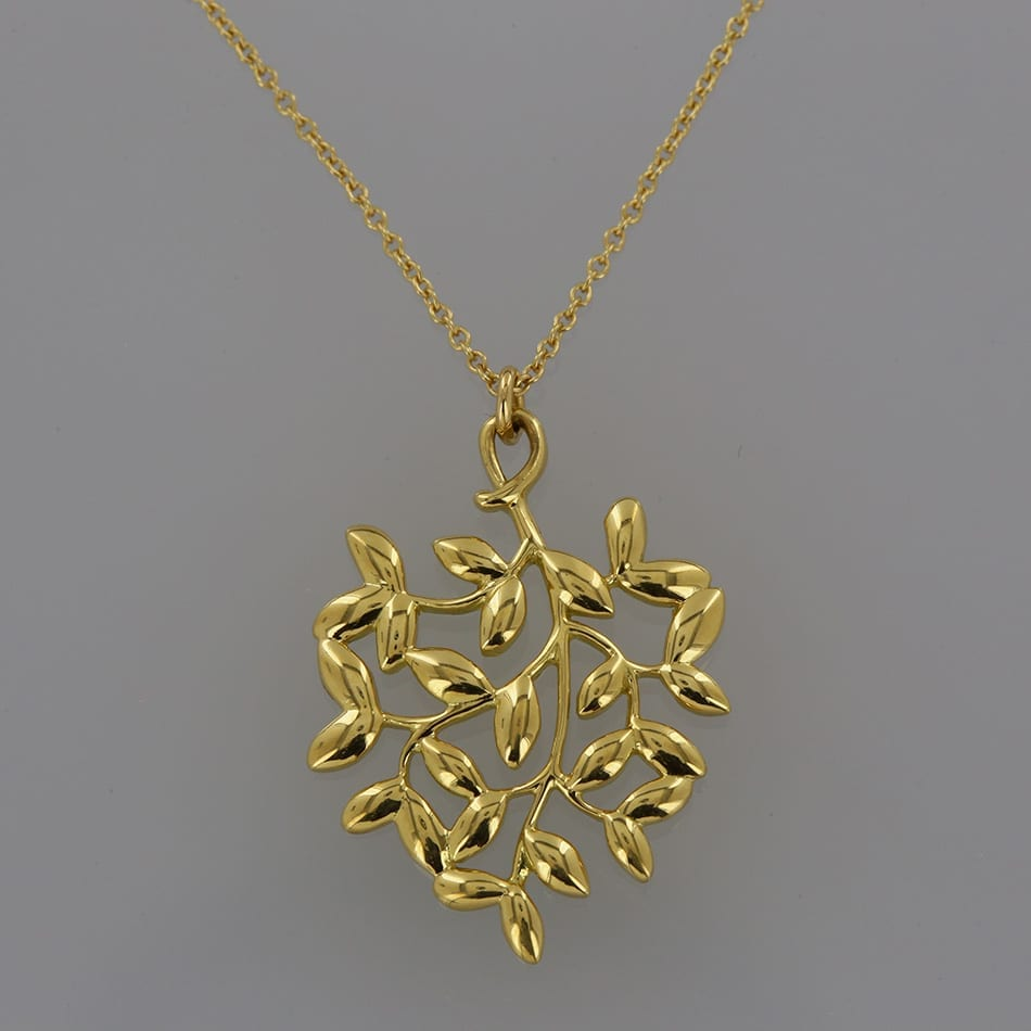 b0b67207d Home / Pendants / Metal Purity / 18 carat / Tiffany & Co. Paloma Picasso  Olive Leaf Pendant Necklace