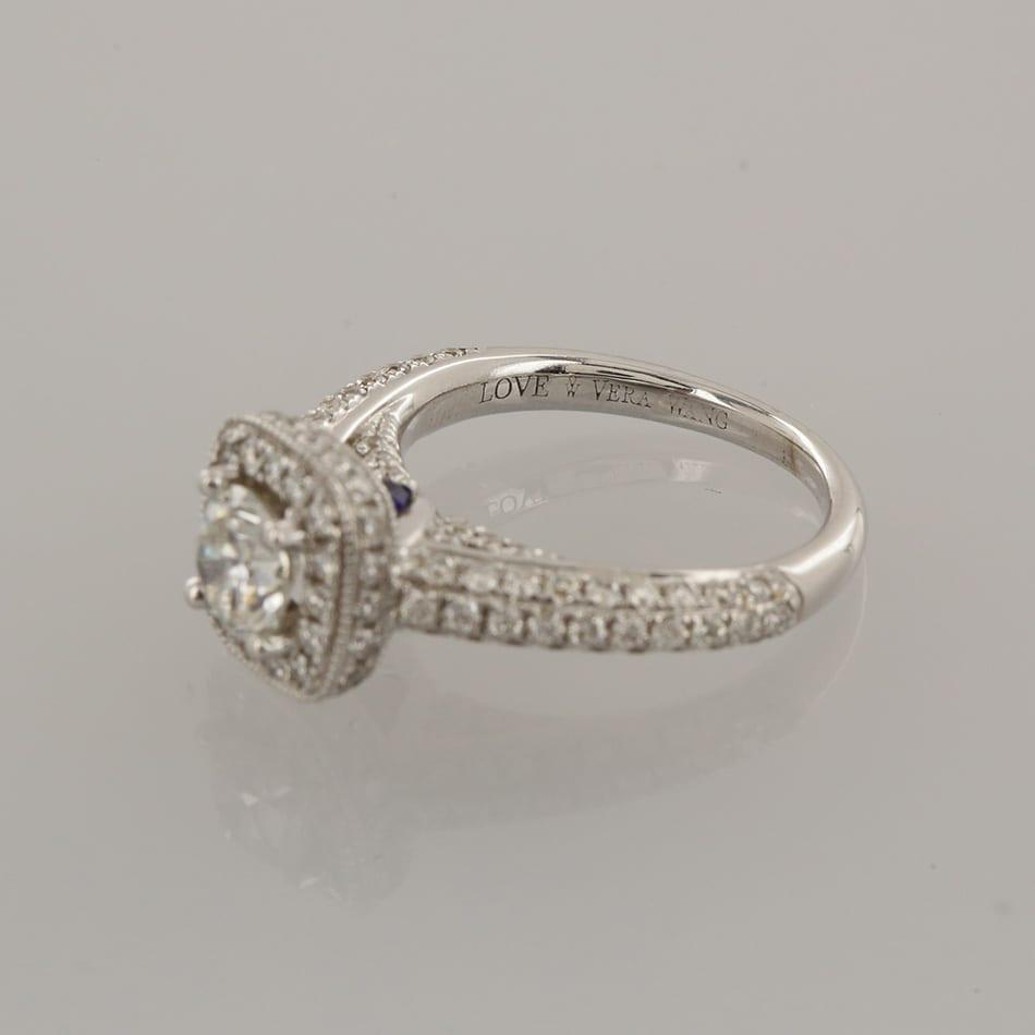 Vera Wang Diamond Halo Ring The Vintage Jeweller