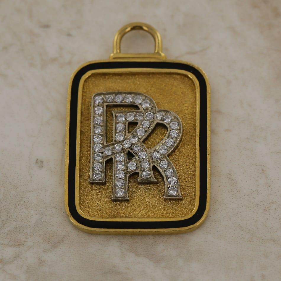 Rolls royce double r diamond pendant the vintage jeweller img10669 aloadofball Choice Image
