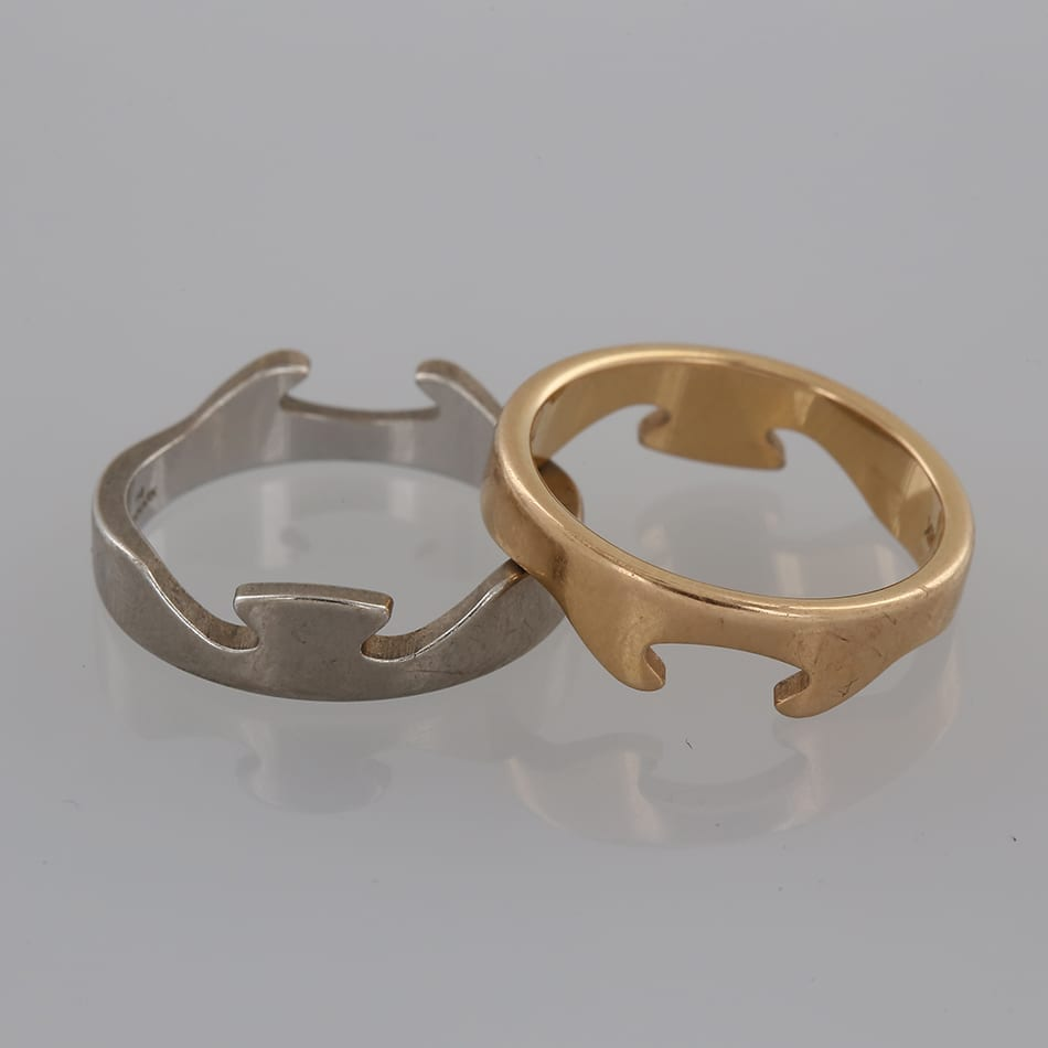 Svært Georg Jensen Fusion Two Piece Ring - The Vintage Jeweller JW-86