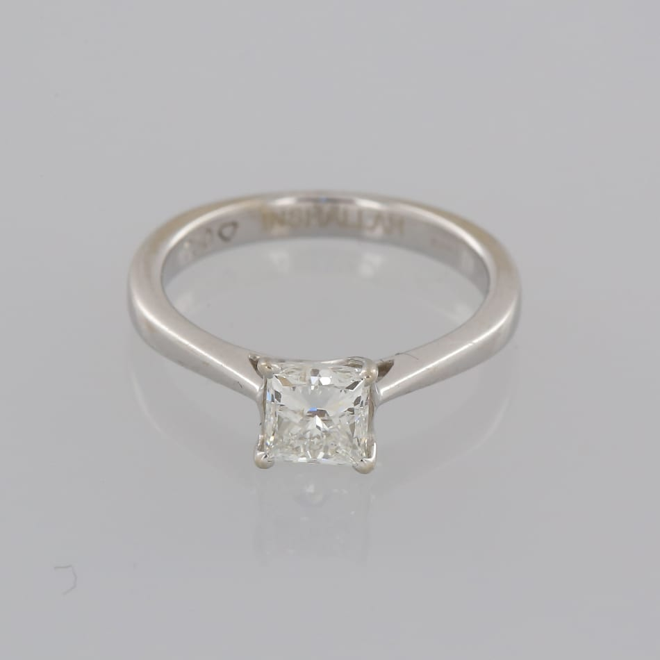 h carat round classic style diamond with cut ring si solitaire