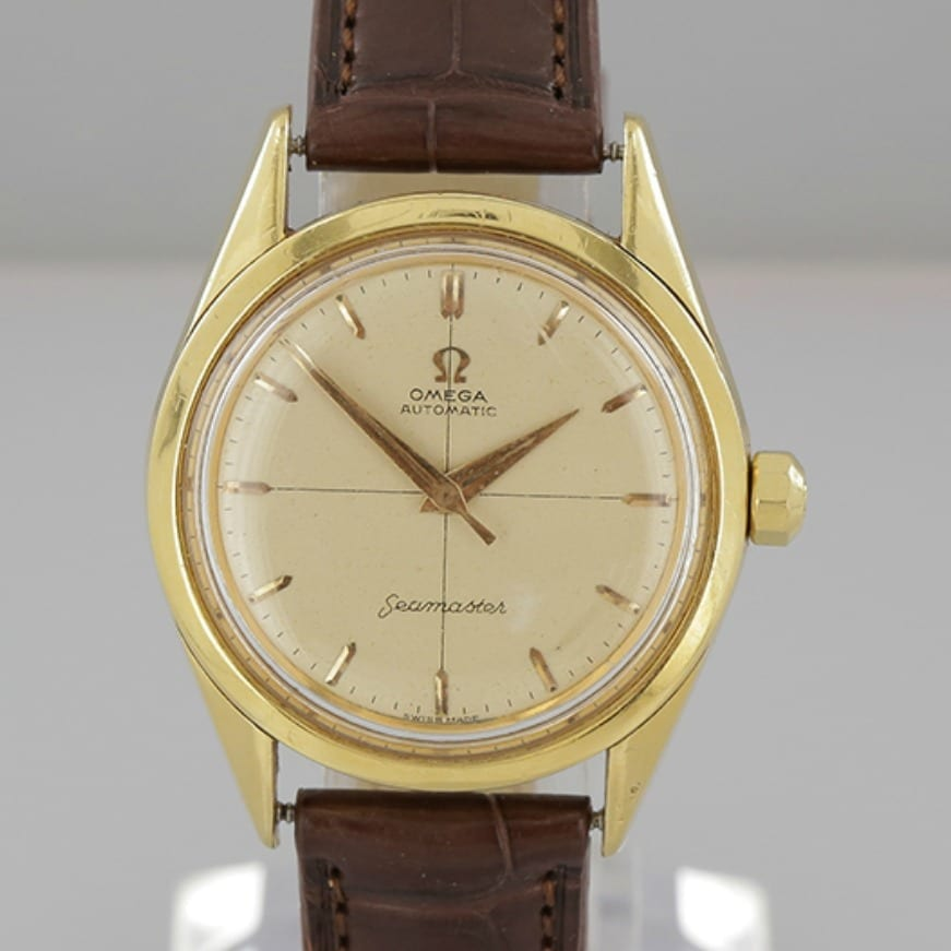 Vintage omega seamaster crosshair dial gentlemens wristwatch the vintage jeweller for Omega watch vintage