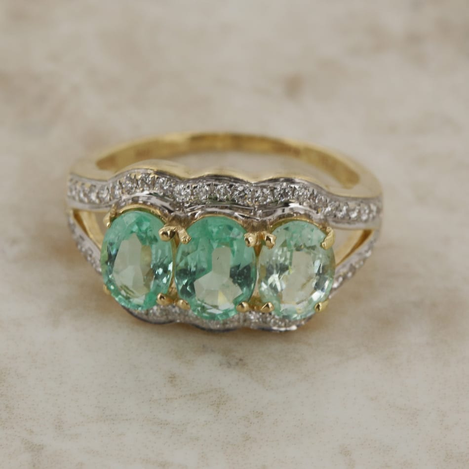 Paraiba Tourmaline And Diamond Ring The Vintage Jeweller