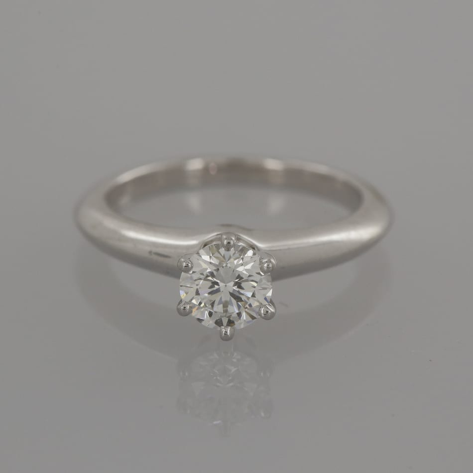 Solitaire Tiffany Bands: Tiffany & Co. Diamond Solitaire Engagement Ring