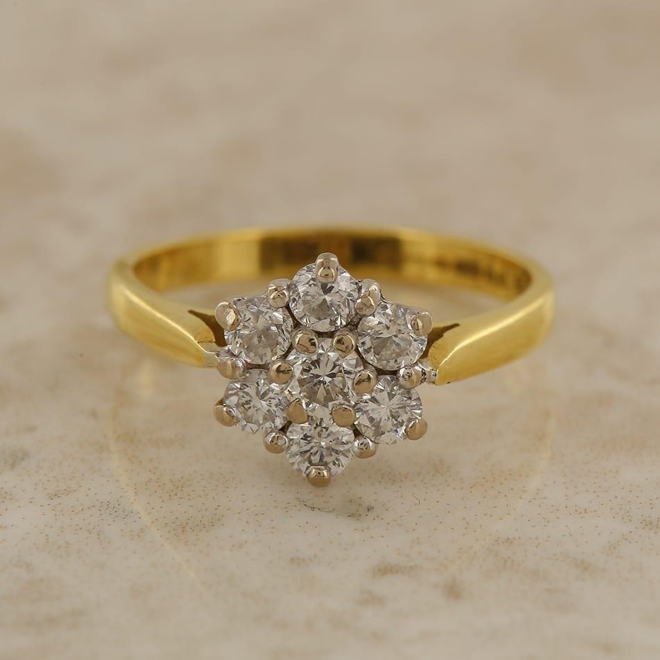 Diamond Flower Cluster Ring The Vintage Jeweller
