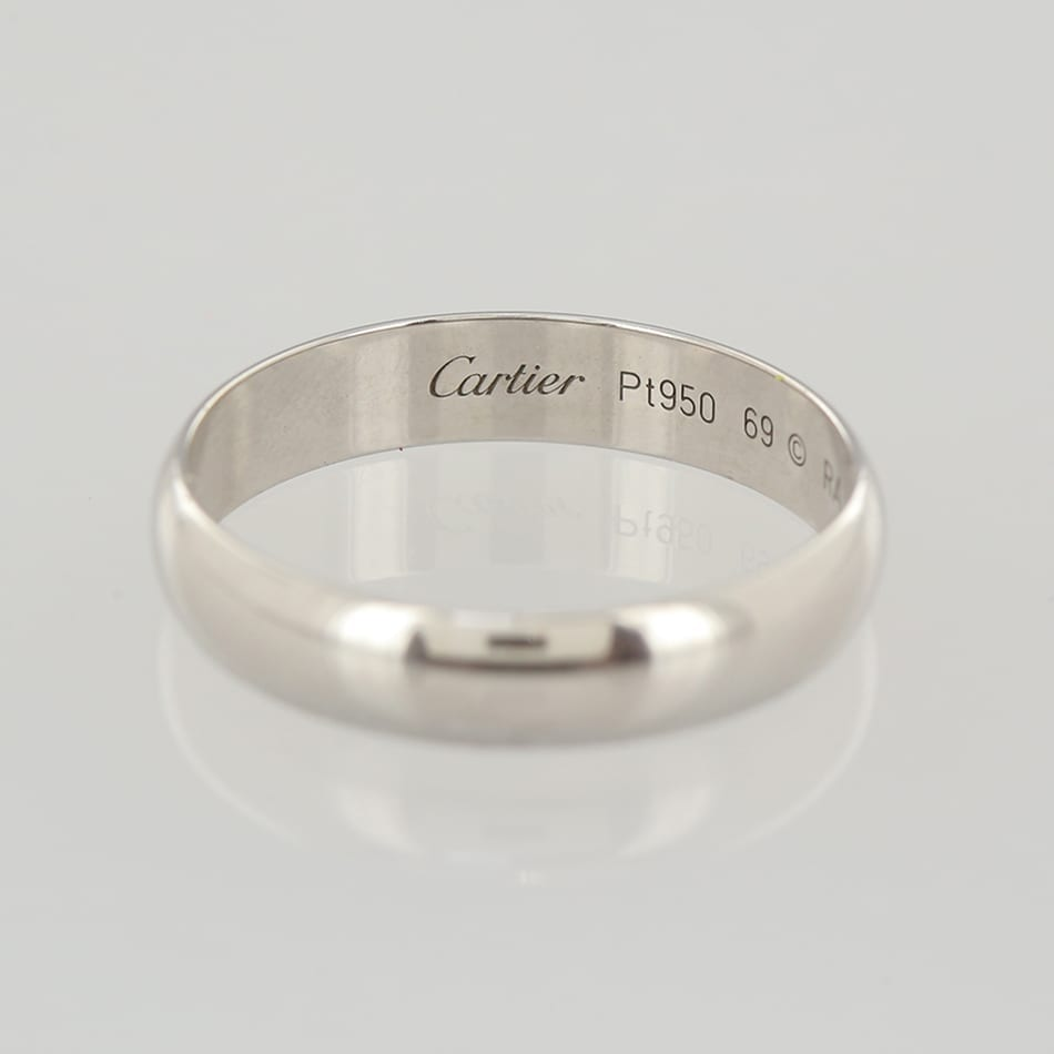 Cartier classic wedding band ring the vintage jeweller home designer jewellery metal platinum cartier classic wedding band ring junglespirit Image collections