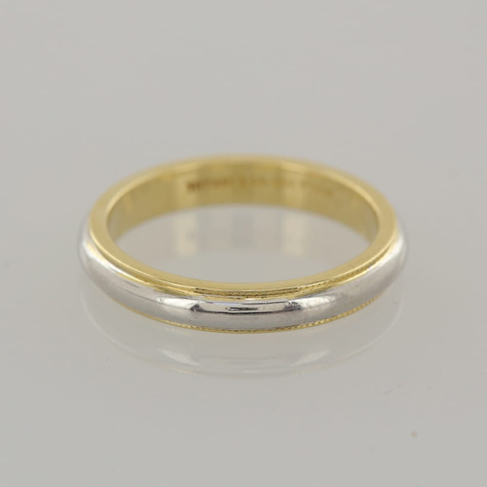 Tiffany Co Classic Milgrain Wedding Band Ring The Vintage Jeweller