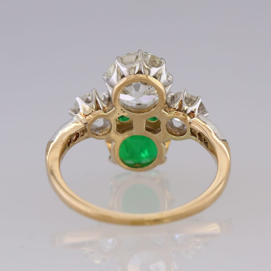 Cf Sze L The Deco Haus: Art Deco Emerald And Diamond Ring