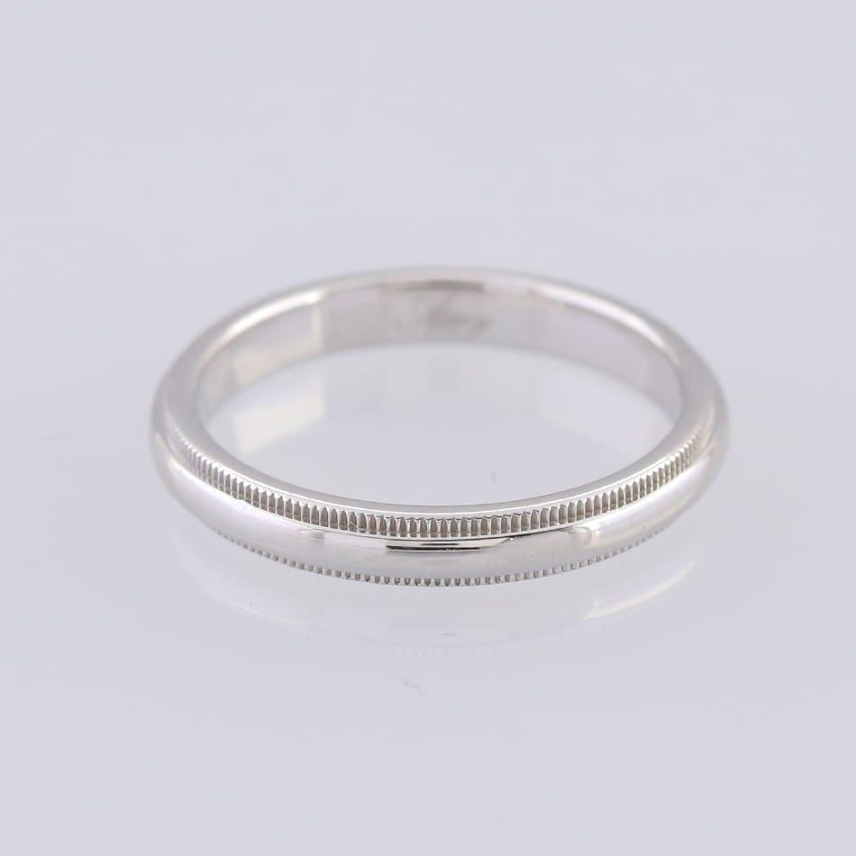 0b56d3170 Home / Rings / Metal / Platinum / Tiffany & Co. Milgrain Wedding Band Ring