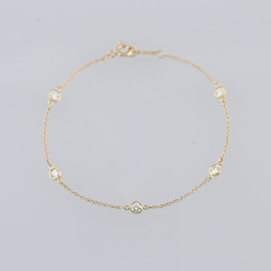 9a98ba6cbfaf1 Tiffany & Co Elsa Peretti Diamonds By The Yard Bracelet