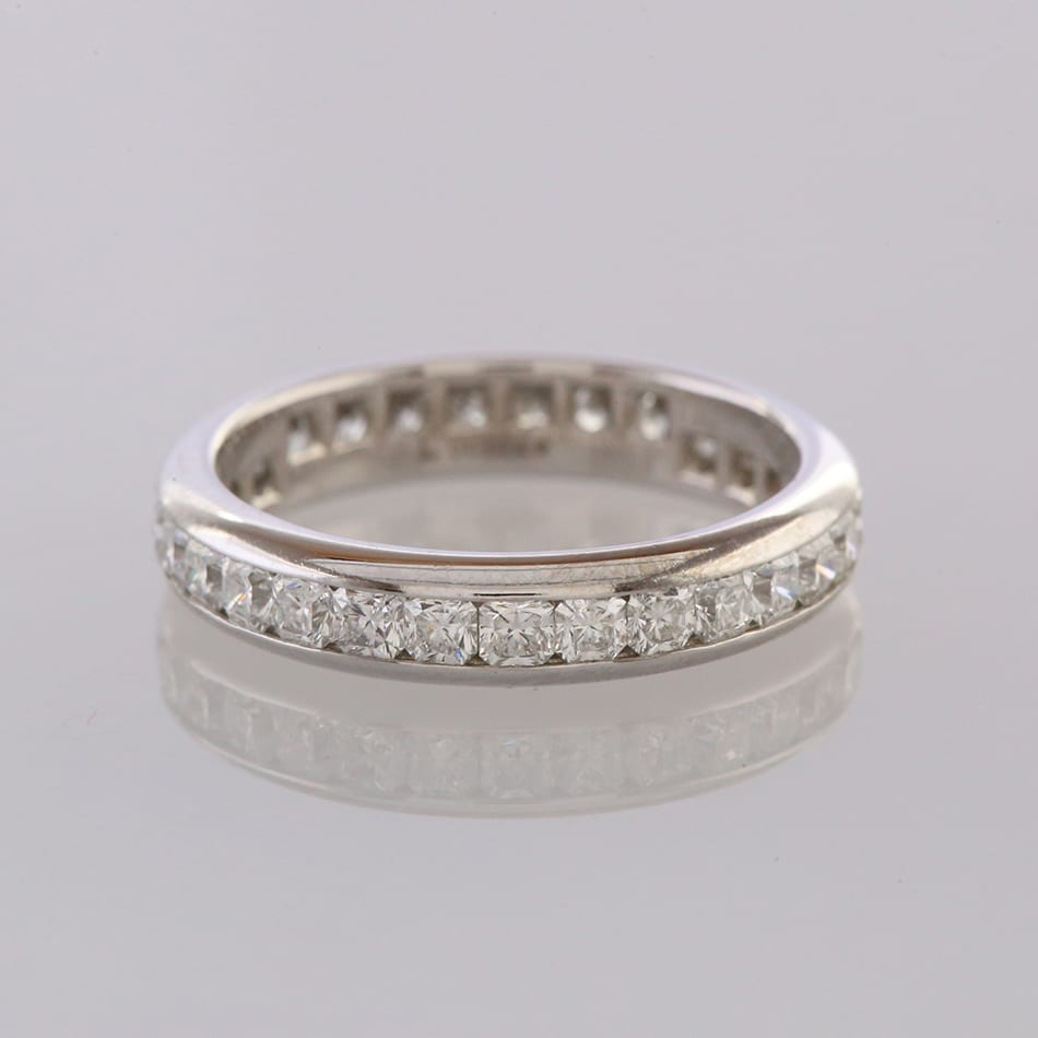 a8031da13 Home / Rings / Stone / Diamond / Tiffany & Co. Lucida 1.50 Carat Diamond  Eternity Ring Size M