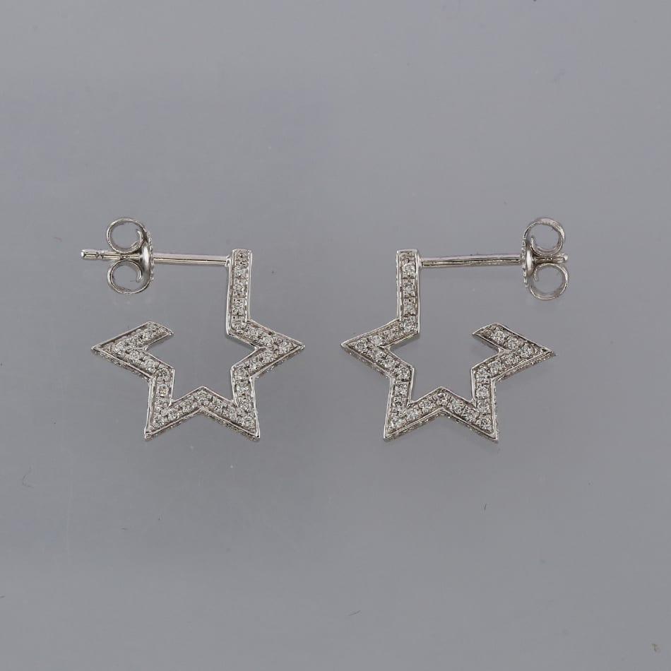f41ee3484cccc Tada and Toy Diamond Star Earrings