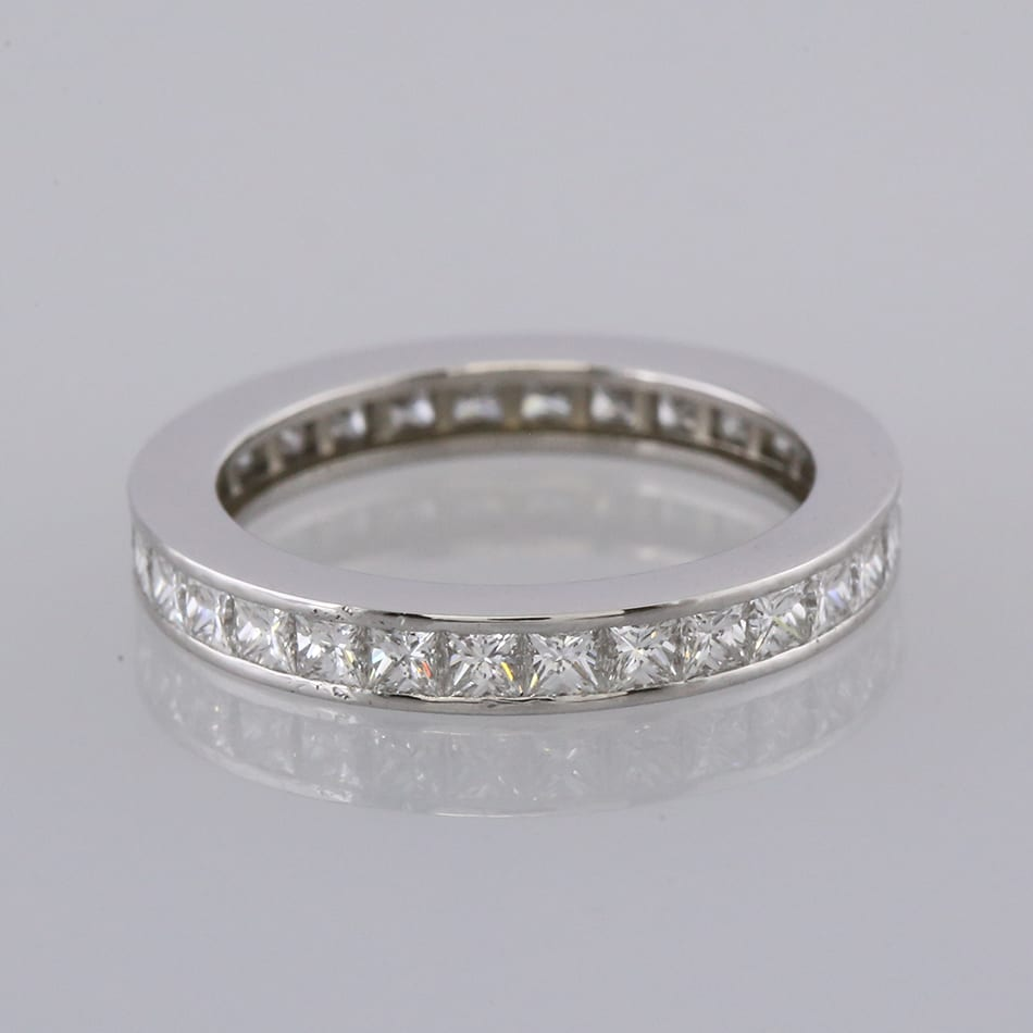 Cartier 1 62 Carat Princess Cut Diamond Eternity Ring