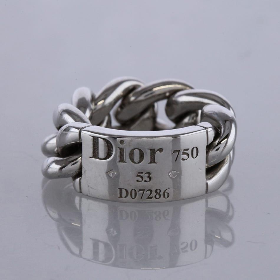b72e86a0b80 Dior Chain Gourmette Link Ring