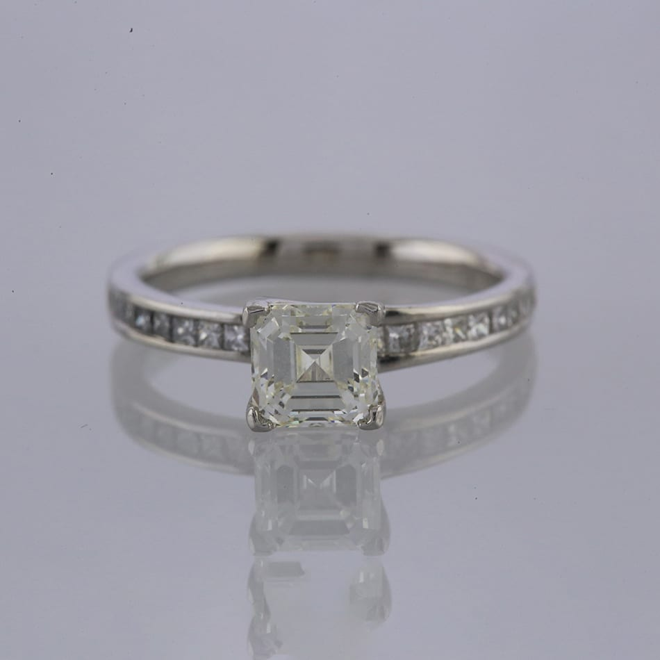 8cea441a94d87 1.52 Carat Square Emerald Cut Diamond Ring