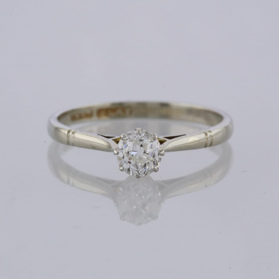 dda99612e Home / Rings / Stone / Diamond / Vintage 0.33 Carat Old Cut Diamond  Solitaire Engagement Ring