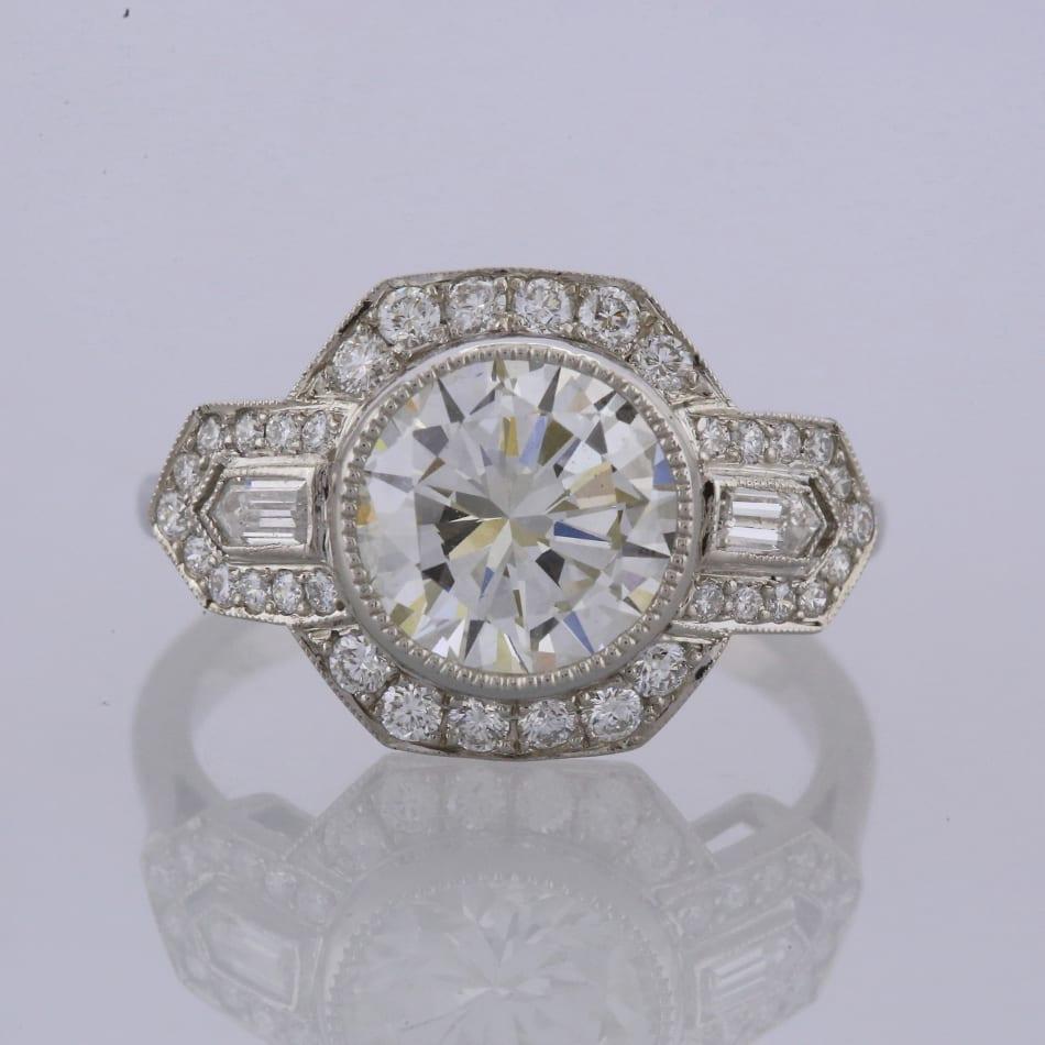 97e47ccc9e9f3 Art Deco Style 2.05 Carat Diamond Ring