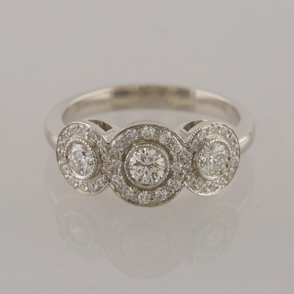 19ed7afa8 Home / Rings / Metal / Platinum / Tiffany & Co. 0.55 Carat Diamond Circlet  Ring