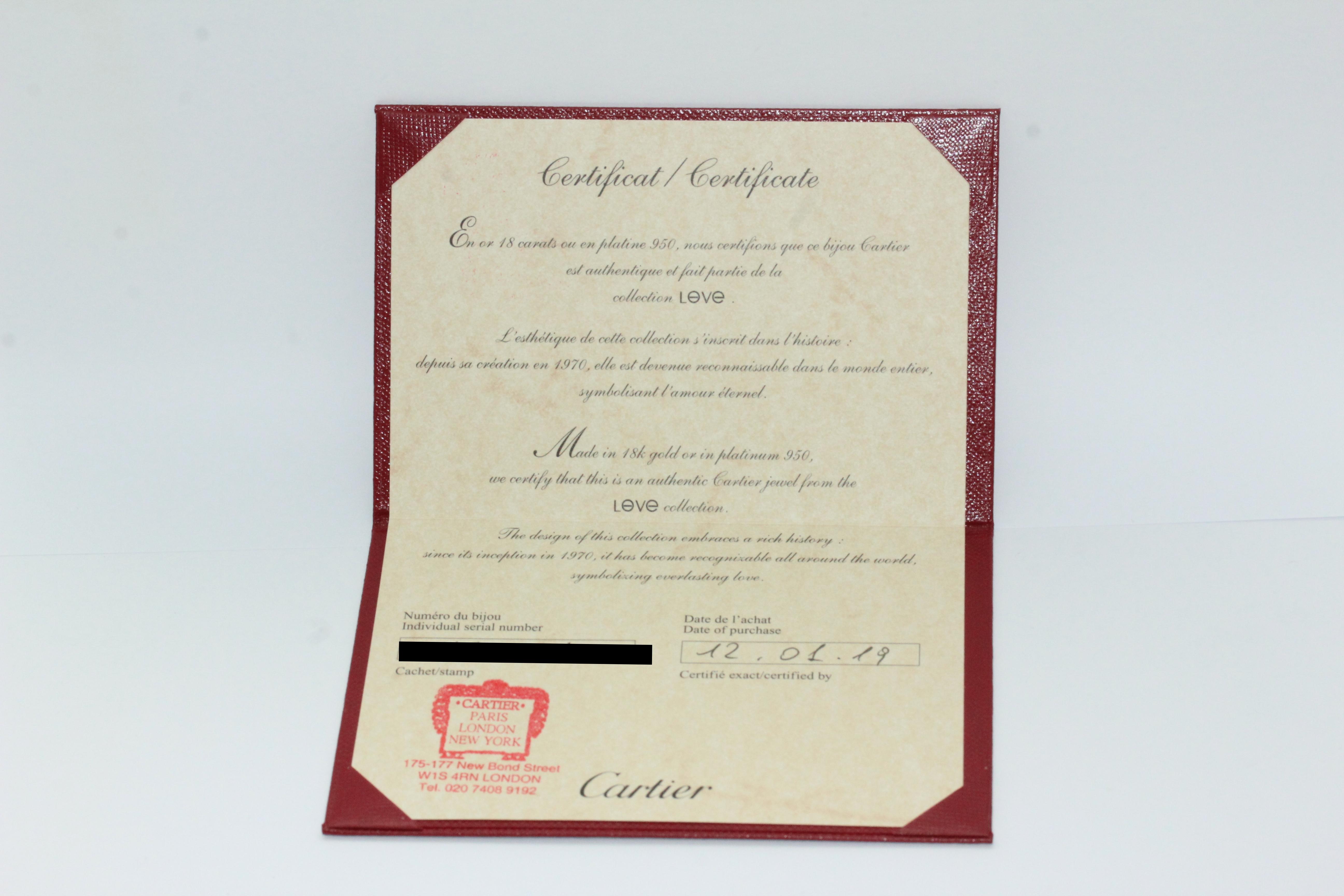 b06325c9f Home / Bangles / Bangles / Cartier LOVE Bangle Bracelet Size 16