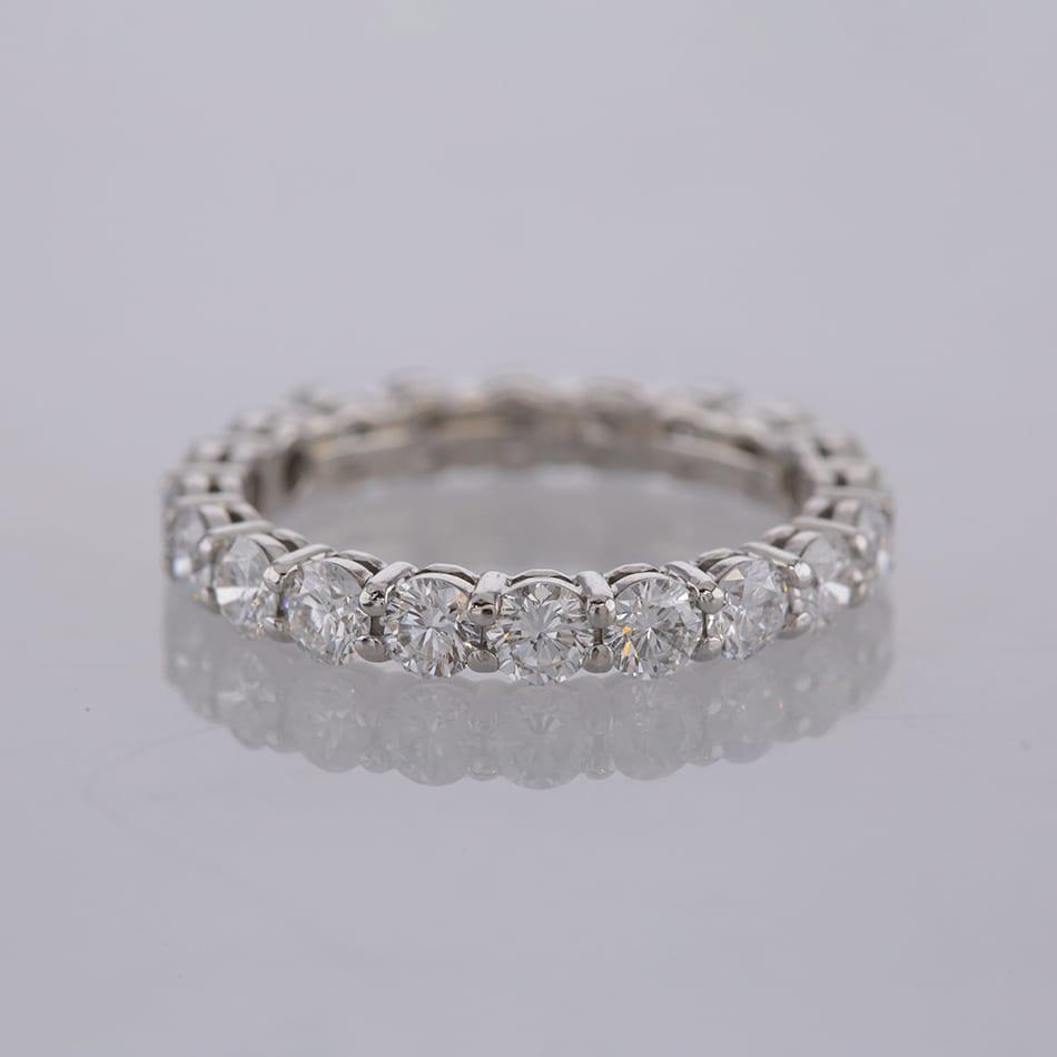 a37d0dbb1 Home / Rings / Metal / Platinum / Tiffany & Co. 1.8 Carat Diamond Full  Eternity Ring Size J