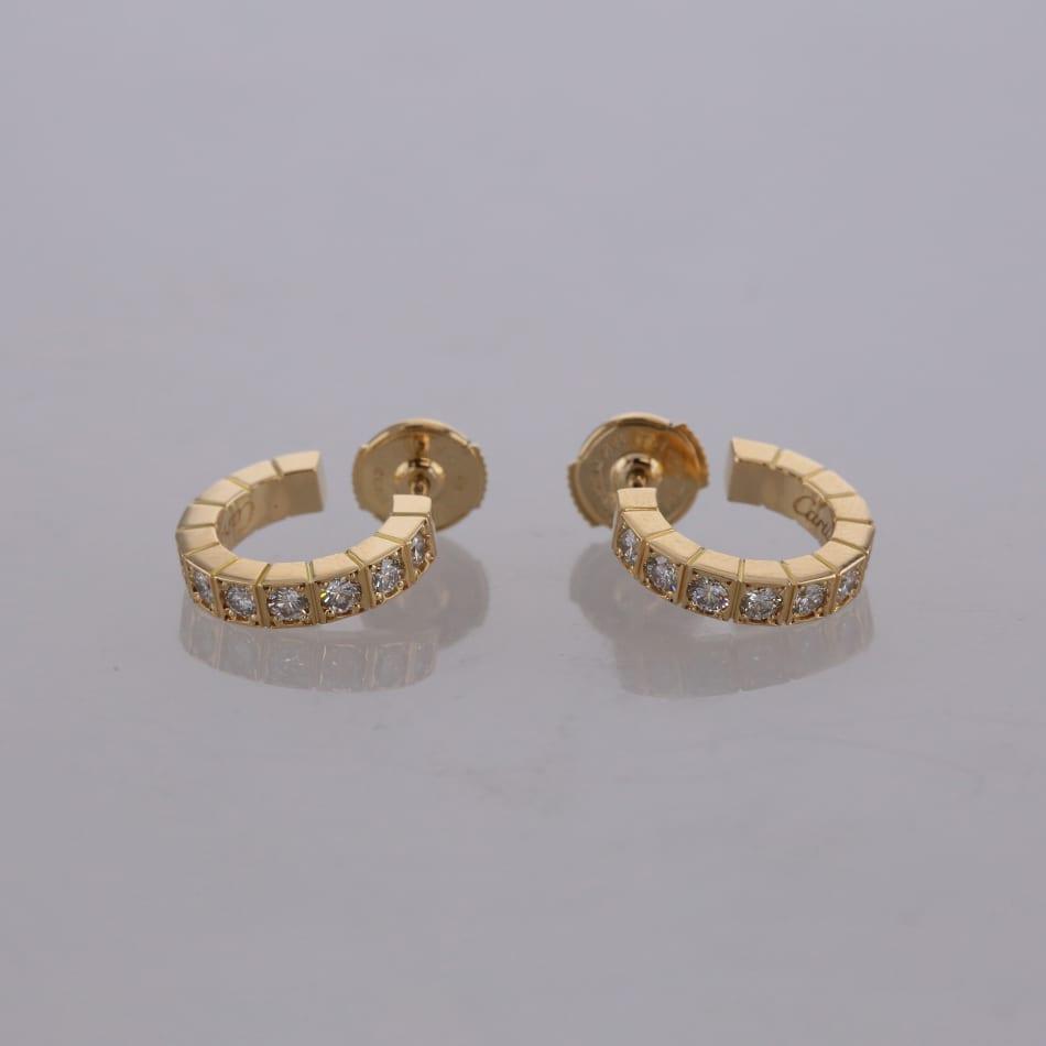 f1dade102 Cartier Lanieres Diamond Hoop Earrings - The Vintage Jeweller