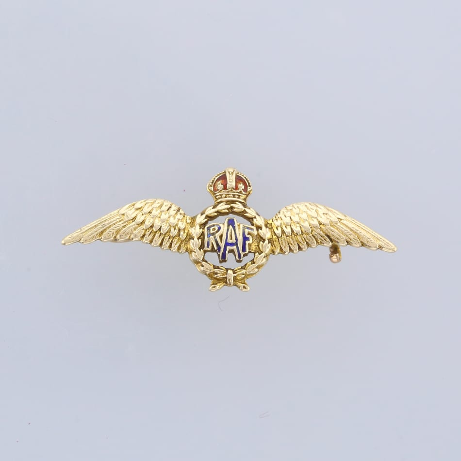 Vintage RAF Winged Sweetheart Brooch